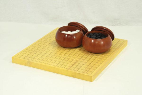 新榧碁盤10号卓上 碁石・碁笥セット