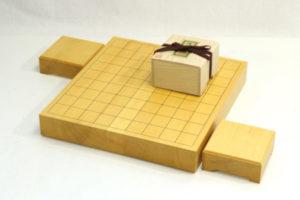 本榧将棋盤20号卓上 駒台セット(駒選択可)
