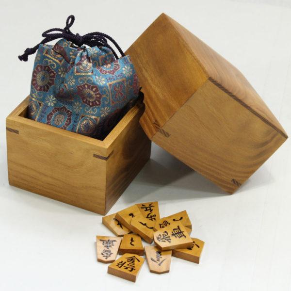 駒箱 桑杢 使用例