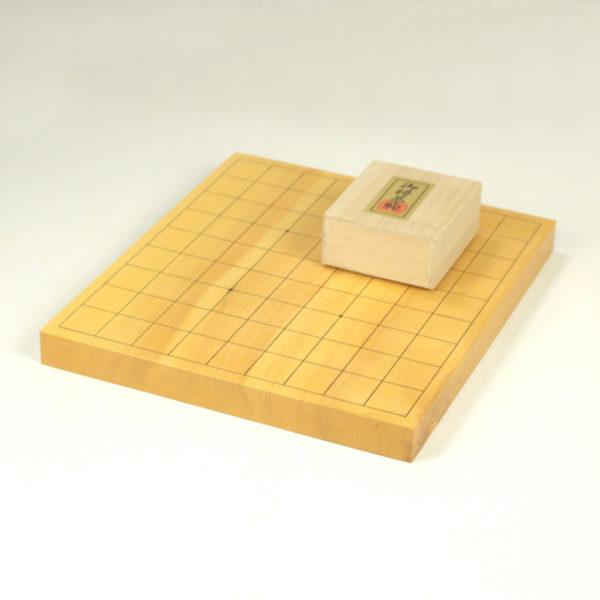 本榧将棋10号(1寸)卓上一枚物 + 将棋駒 楓上彫付セット