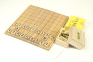将棋盤セット+天然木将棋駒付