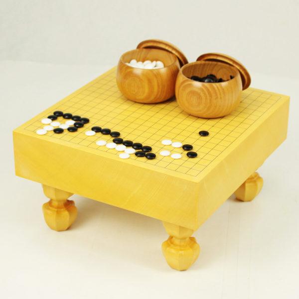本榧四方木口 ミニ碁盤足付(4分石用)
