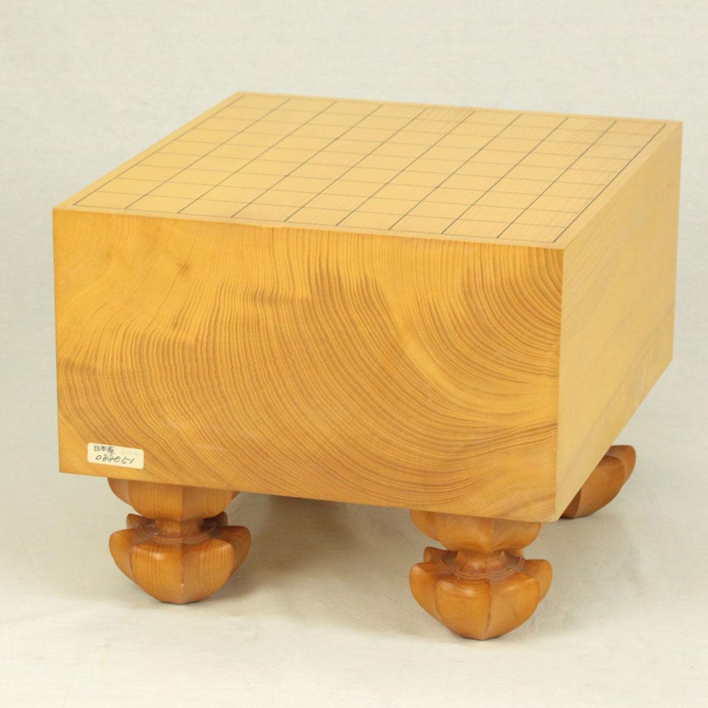 【中古】日本産本榧将棋盤 6寸柾目